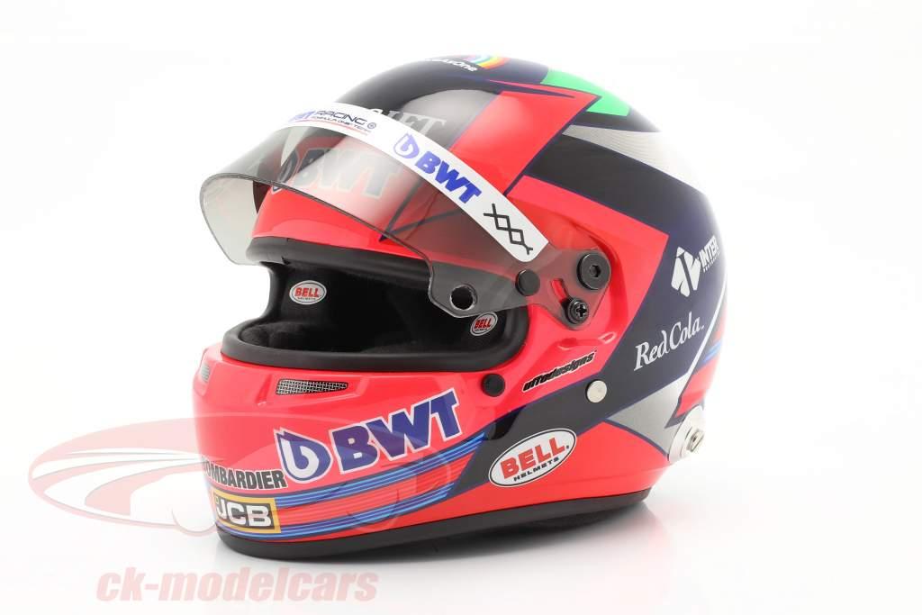 Sergio Perez #11 BWT Racing Point F1 Team formel 1 2020 hjelm 1:2 Bell