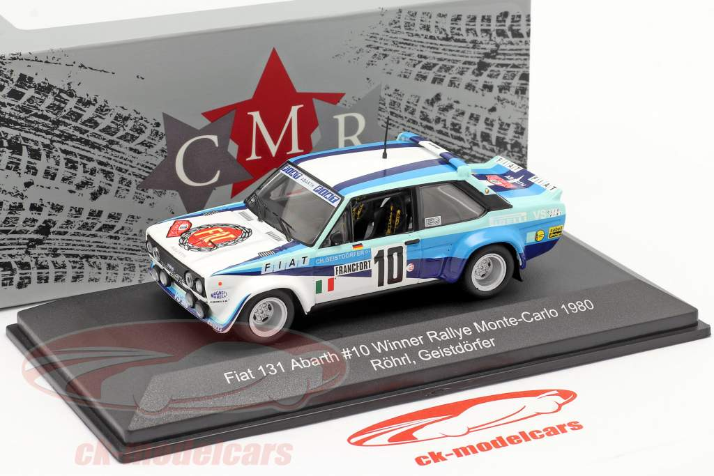 Fiat 131 Abarth #10 ganador Rallye Monte Carlo 1980 Röhrl, Geistdörfer 1:43 CMR