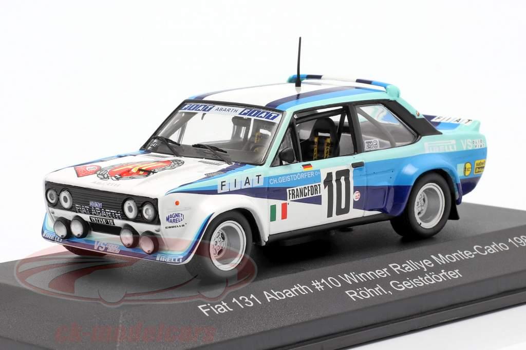 Fiat 131 Abarth #10 vencedora Rallye Monte Carlo 1980 Röhrl, Geistdörfer 1:43 CMR