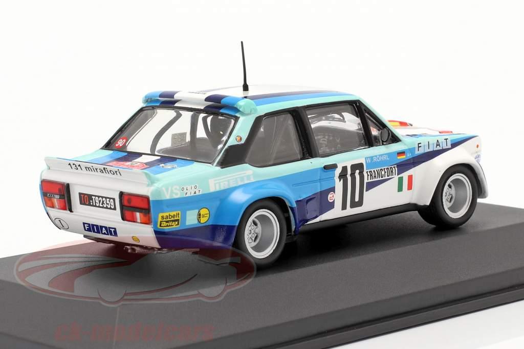 Fiat 131 Abarth #10 vincitore Rallye Monte Carlo 1980 Röhrl, Geistdörfer 1:43 CMR