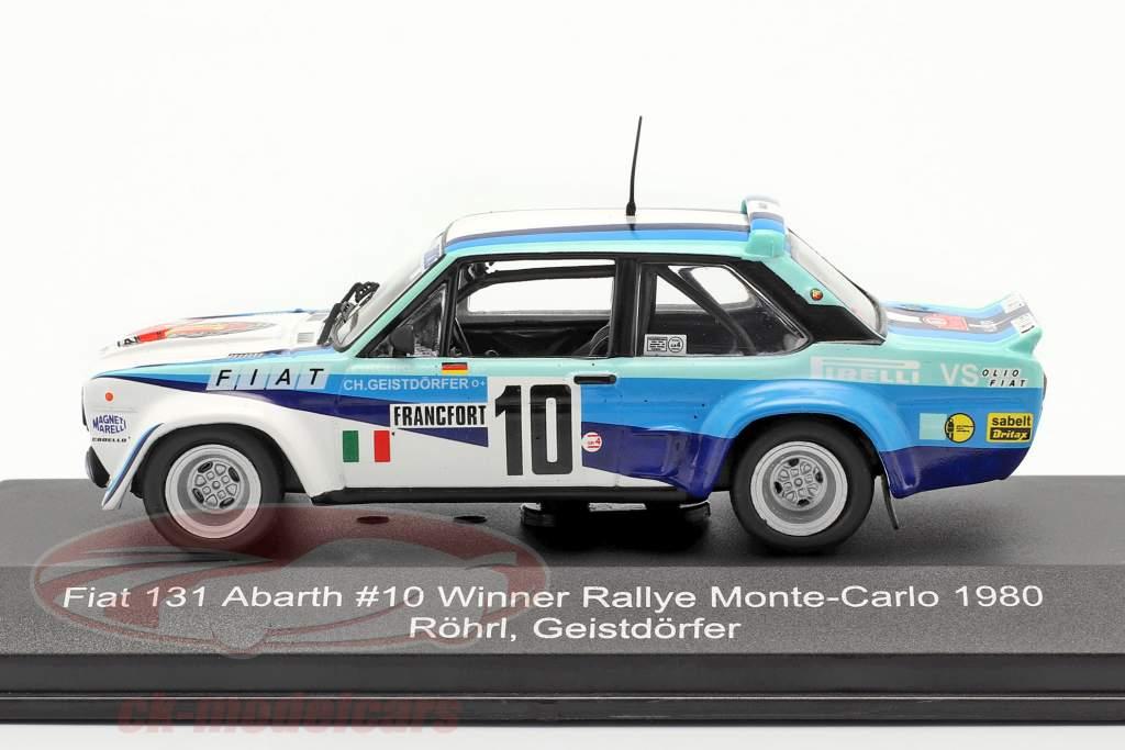 Fiat 131 Abarth #10 勝者 Rallye Monte Carlo 1980 Röhrl, Geistdörfer 1:43 CMR