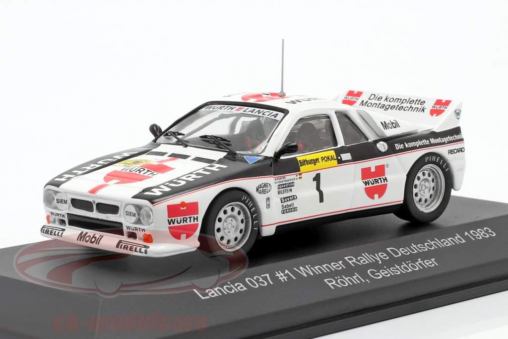 Lancia 037 #1 winnaar Rallye Duitsland 1983 Röhrl, Geistdörfer 1:43 CMR