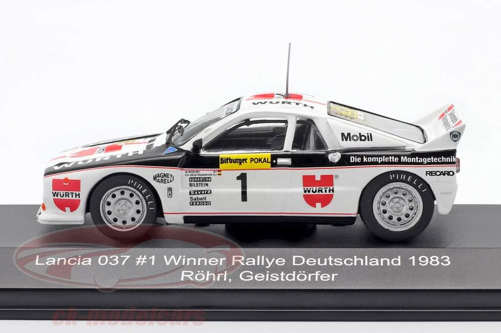 Lancia 037 #1 vincitore Rallye Germania 1983 Röhrl, Geistdörfer 1:43 CMR