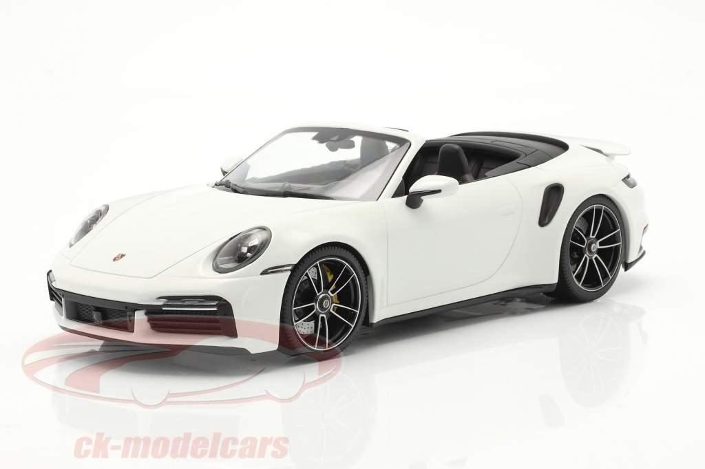 Porsche 911 (992) Turbo S Cabriolet Anno di costruzione 2020 bianca 1:18 Minichamps