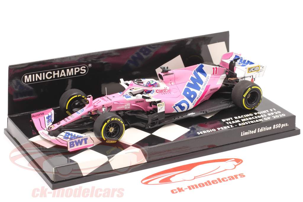 Sergio Perez Racing Point RP20 #11 Østrigsk GP formel 1 2020 1:43 Minichamps