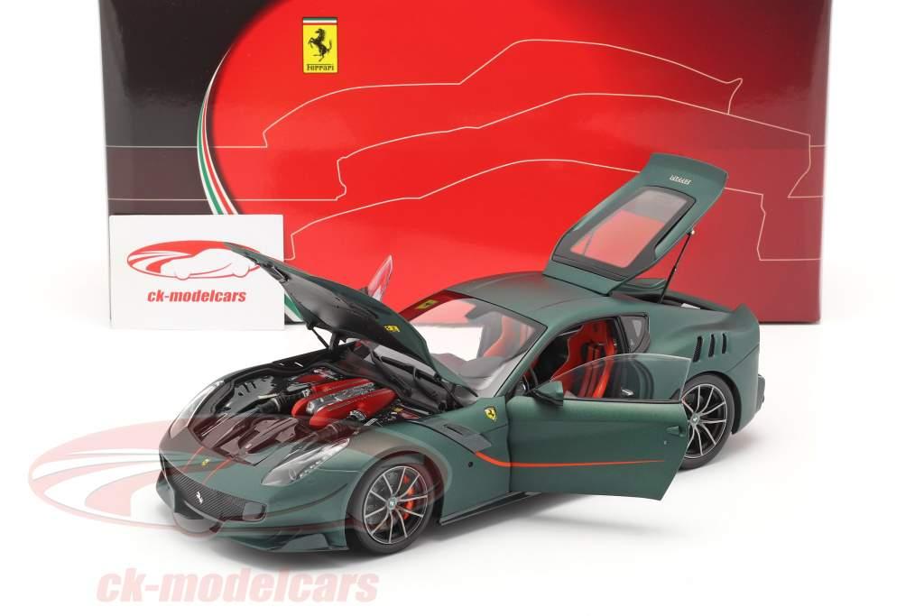 Ferrari F12 TDF Bouwjaar 2015 opaco groen 1:18 BBR