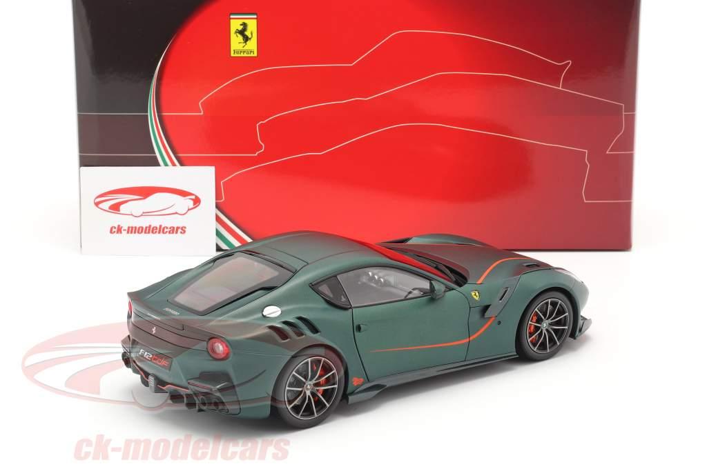 Ferrari F12 TDF Baujahr 2015 opaco grün 1:18 BBR
