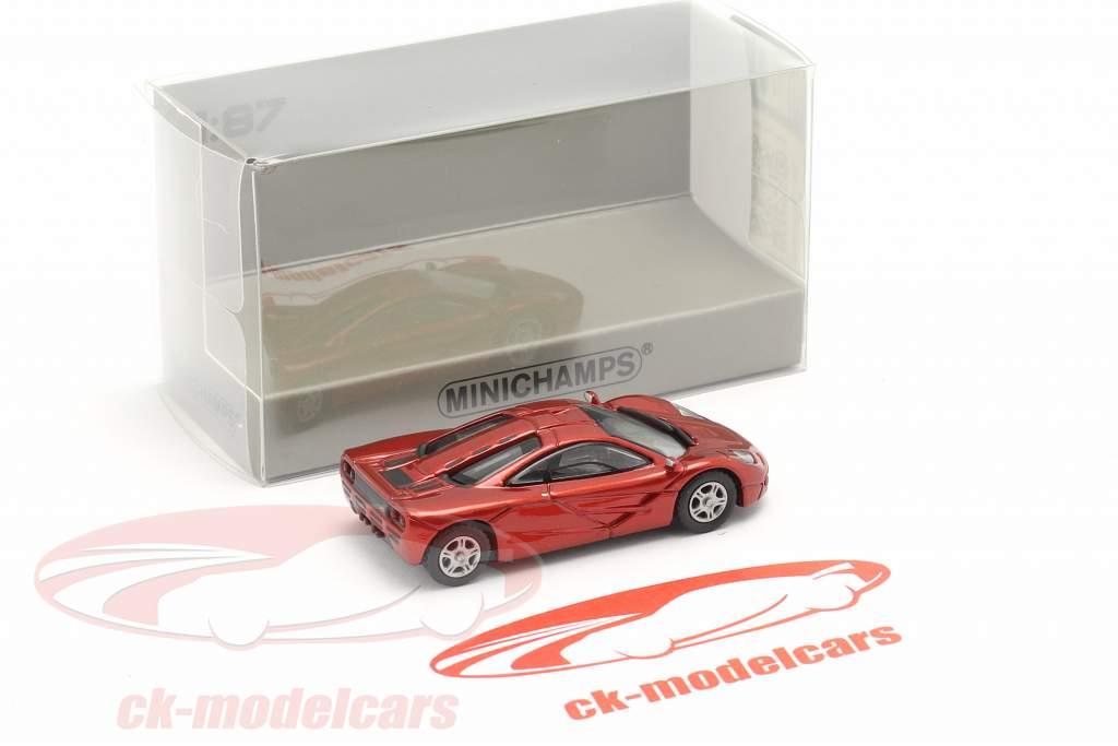 McLaren F1 Roadcar 1994 rojo metálico 1:87 Minichamps