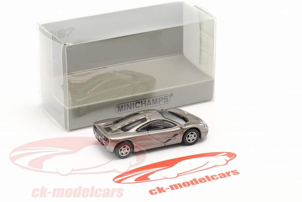 McLaren F1 Roadcar 1994 gris métallique 1:87 Minichamps