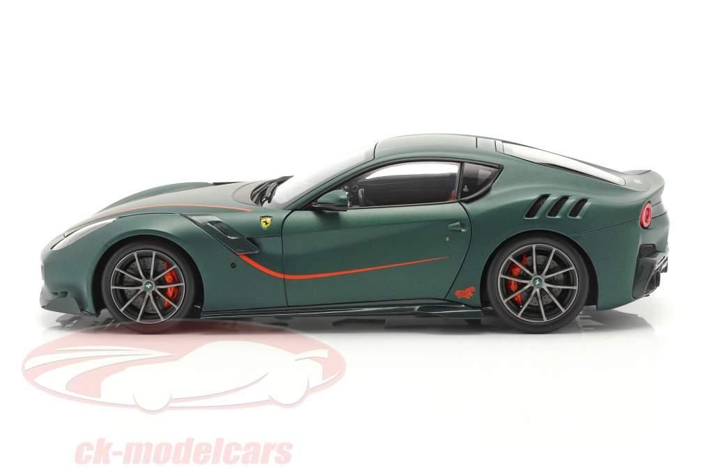 Ferrari F12 TDF Ano de construção 2015 opaco verde 1:18 BBR