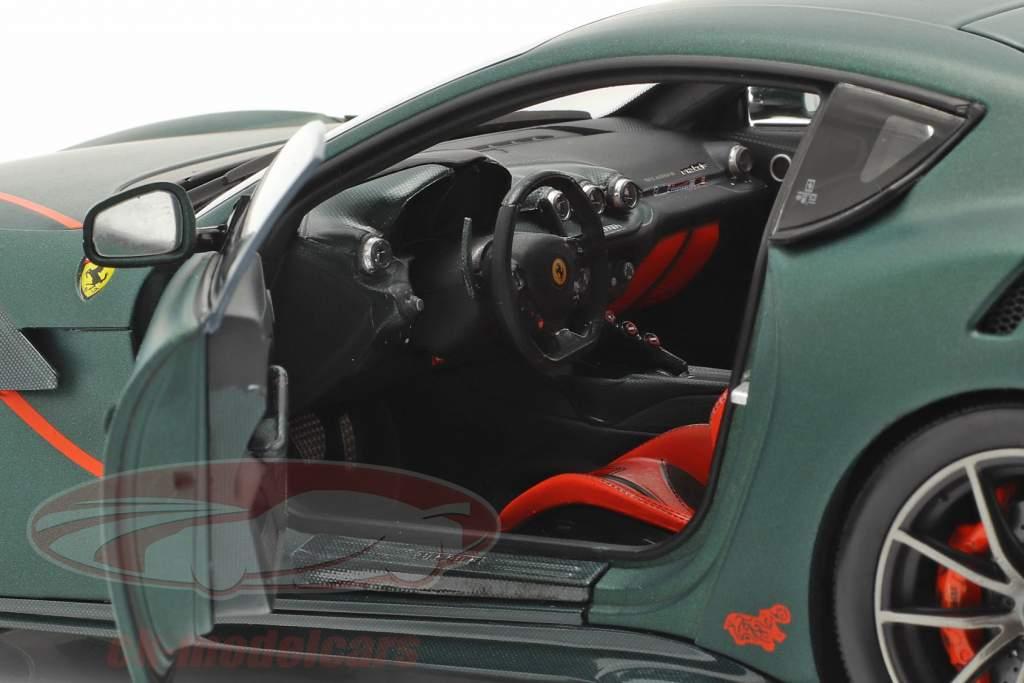 Ferrari F12 TDF Byggeår 2015 opaco grøn 1:18 BBR
