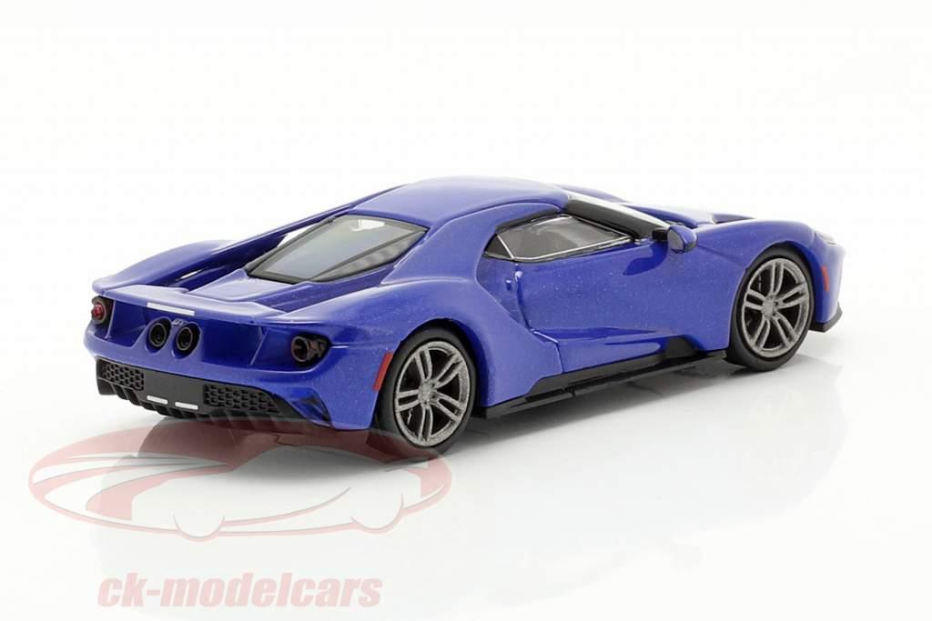 Ford GT Anno di costruzione 2018 blu metallico 1:87 Minichamps