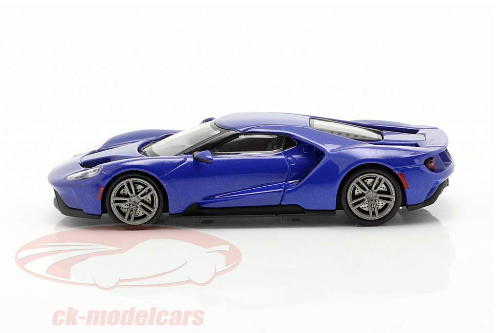 Ford GT year 2018 blue metallic 1:87 Minichamps