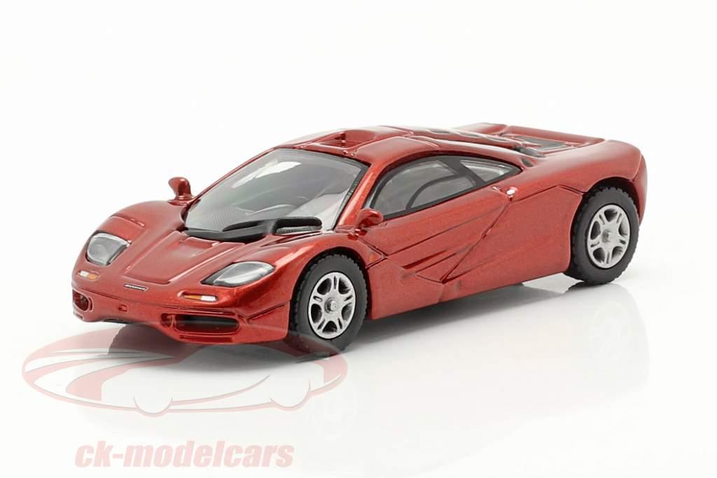 McLaren F1 Roadcar 1994 rød metallisk 1:87 Minichamps