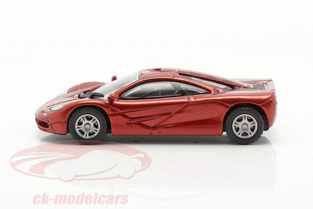 McLaren F1 Roadcar 1994 rood metalen 1:87 Minichamps