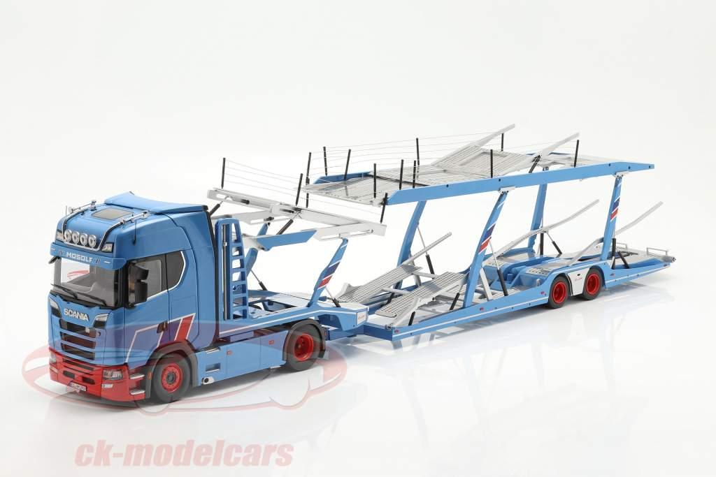 Set Scania V8 730S Avec Lohr Transporteur de voitures Mosolf 1:18 NZG
