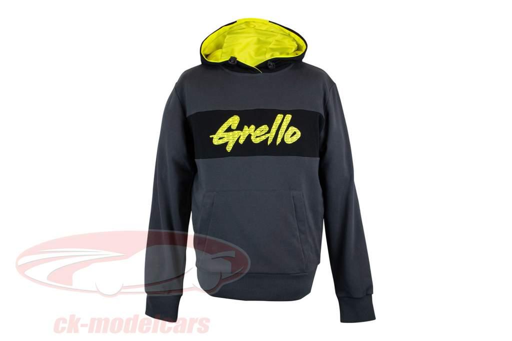 Manthey-Racing Pullover con cappuccio Grello 911 Grigio / giallo