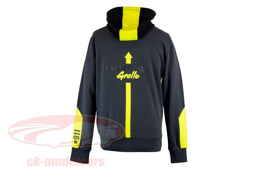 Manthey-Racing Kapuzenpullover Grello 911 grau / gelb