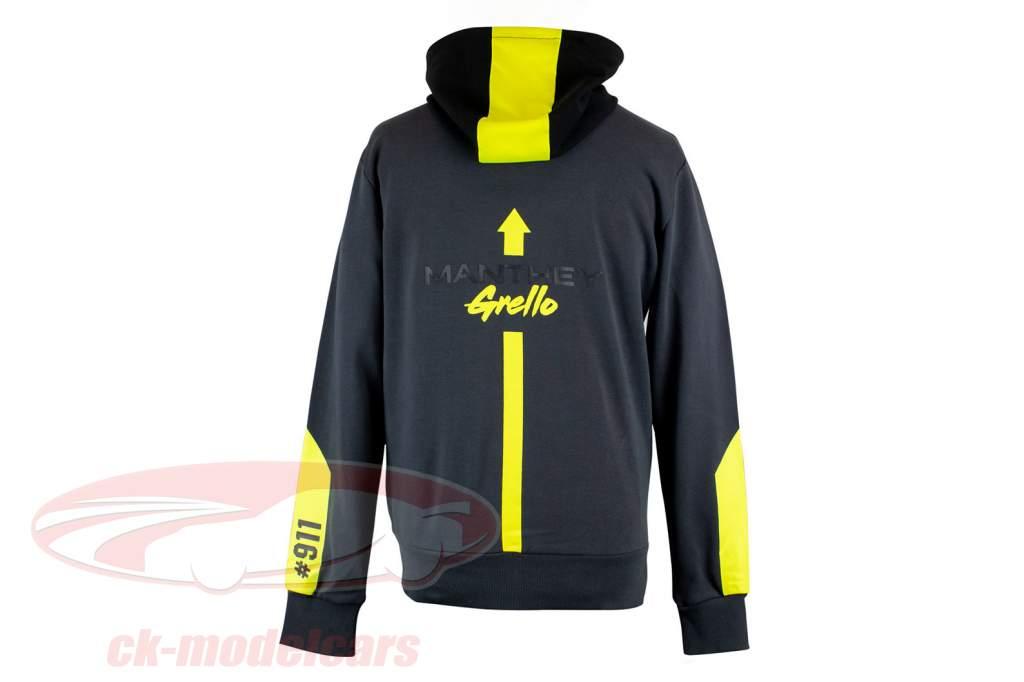 Manthey-Racing Pullover met capuchon Grello 911 Grijs / geel