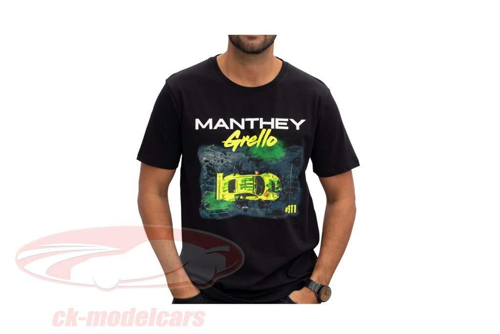 Manthey-Racing Maglietta Pitstop Grello 911 nero