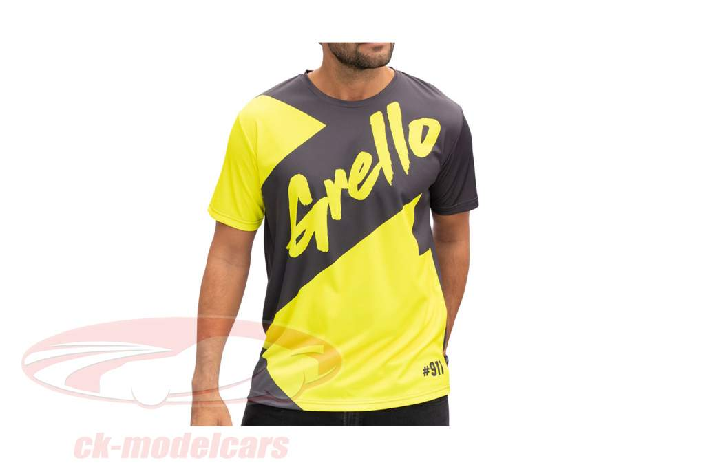 Manthey-Racing T-Shirt Fan Grello 911 grau / gelb