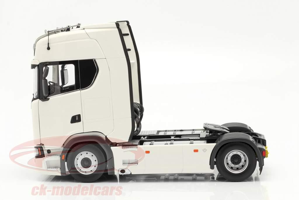 Scania V8 730S 4x2 Camión Blanco 1:18 NZG