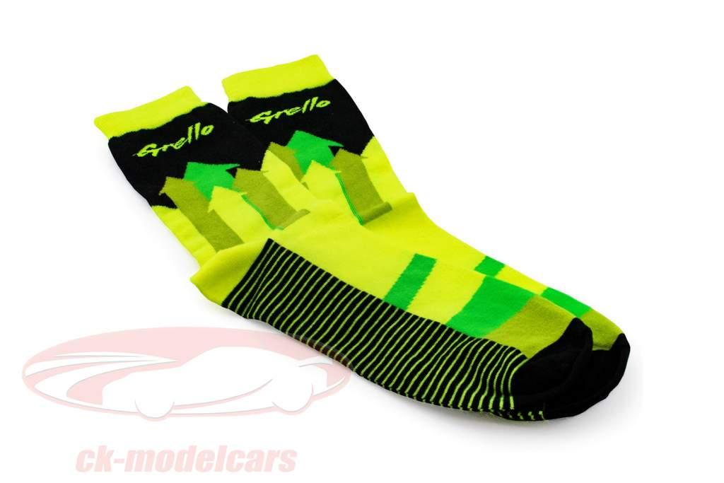 Manthey-Racing Sokker Grello 911 gul / grøn størrelse 43-46