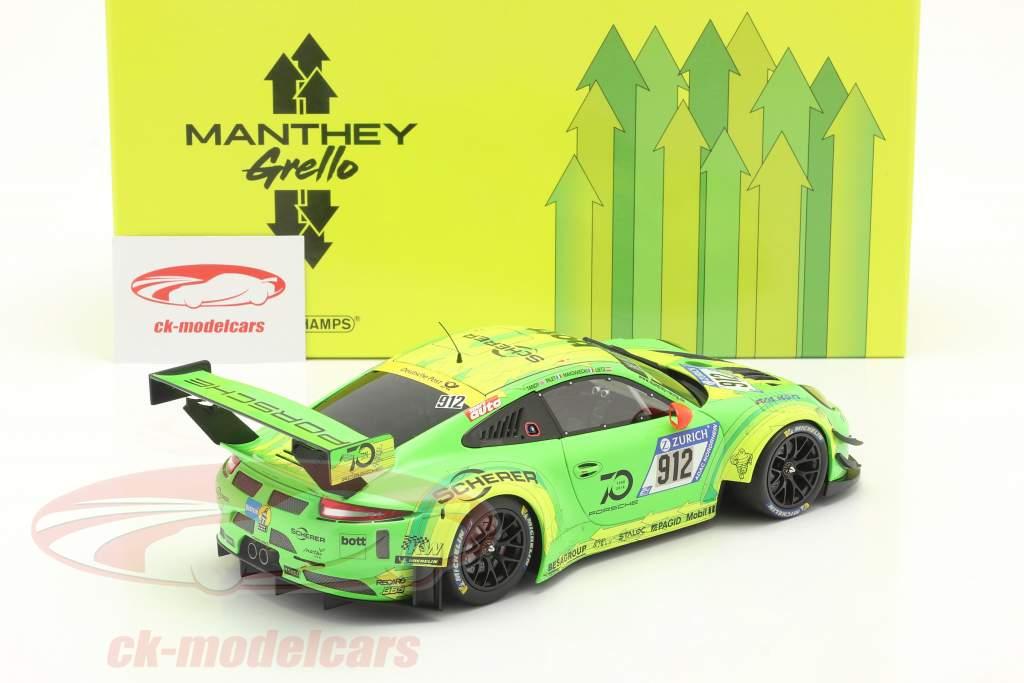 Porsche 911 (991) GT3 R #912 Vinder 24h Nürburgring 2018 Manthey Grello 1:18 Minichamps