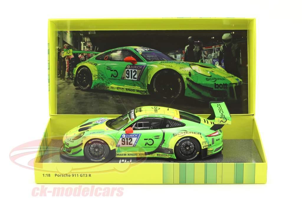 Porsche 911 (991) GT3 R #912 Winner 24h Nürburgring 2018 Manthey Grello 1:18 Minichamps