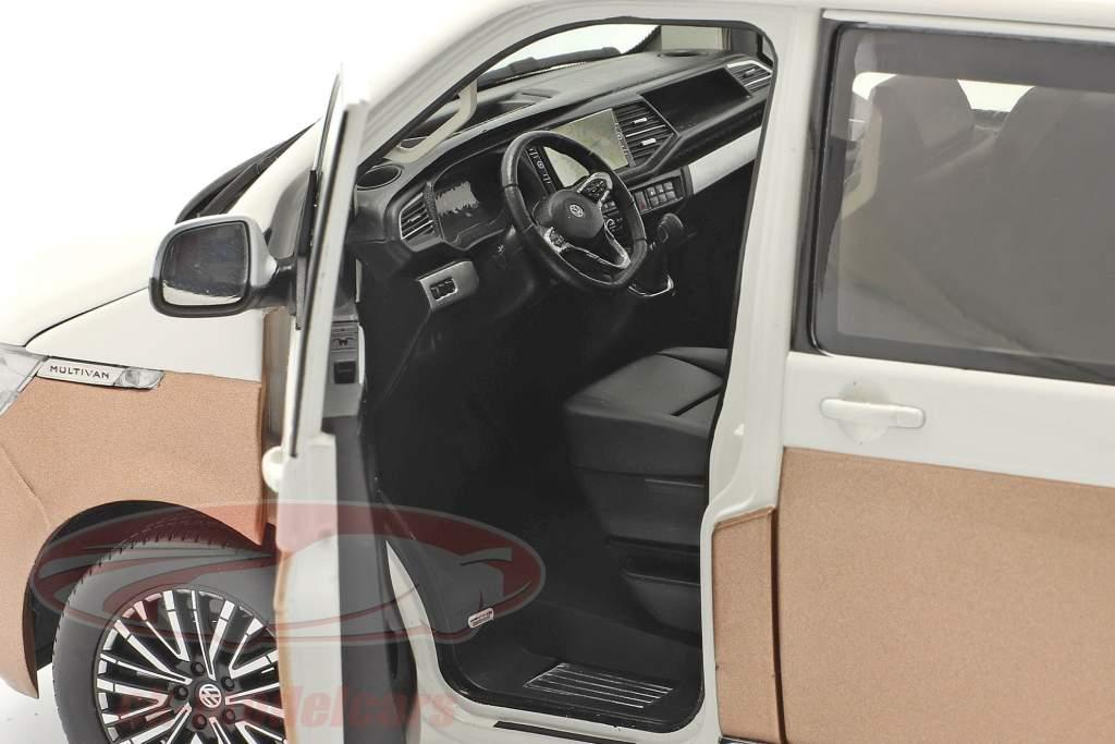 Volkswagen VW Multivan T6.1 Generation Six 2020 white / bronze 1:18 NZG