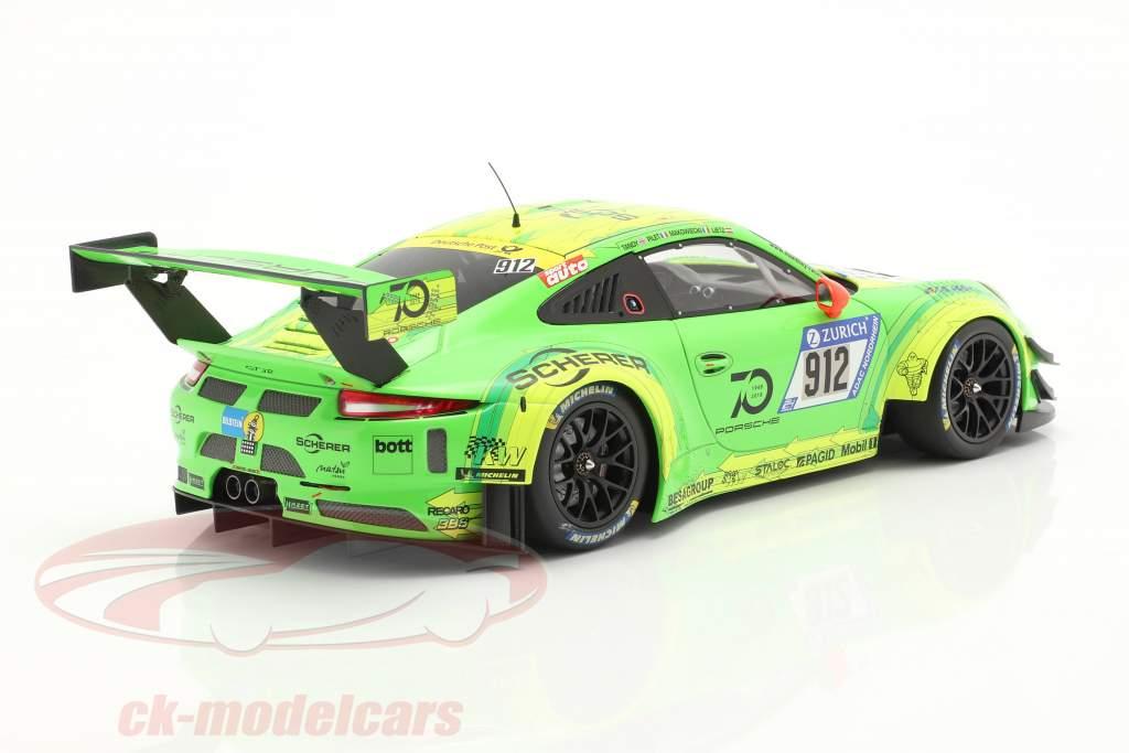 Porsche 911 (991) GT3 R #912 Winnaar 24h Nürburgring 2018 Manthey Grello 1:18 Minichamps