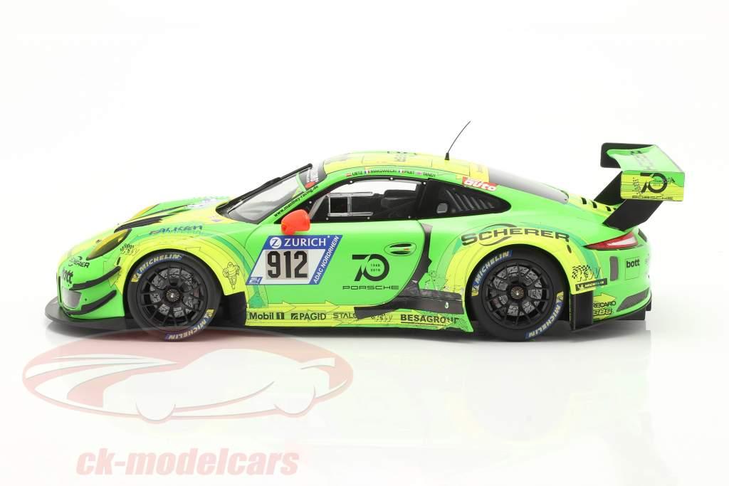Porsche 911 (991) GT3 R #912 Gagnant 24h Nürburgring 2018 Manthey Grello 1:18 Minichamps