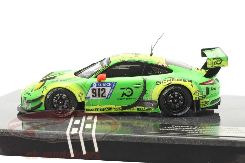 Porsche 911 (991) GT3 R #912 Winnaar 24h Nürburgring 2018 Manthey Grello 1:43 Minichamps