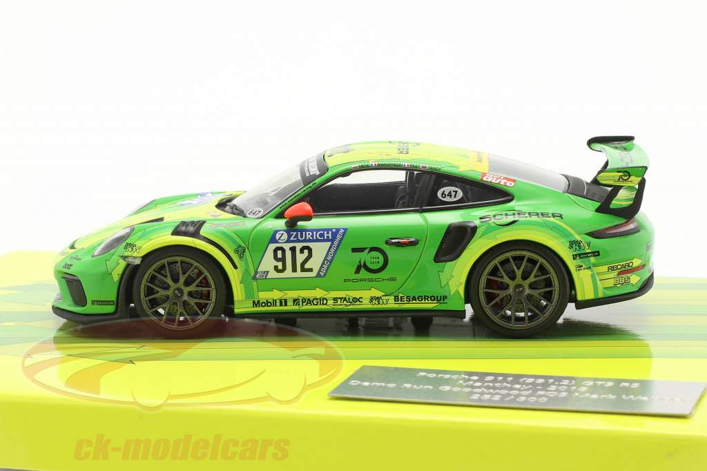 Porsche 911 (991) GT3 RS Manthey #912 Demo Run Goodwood 2018 1:43 Minichamps