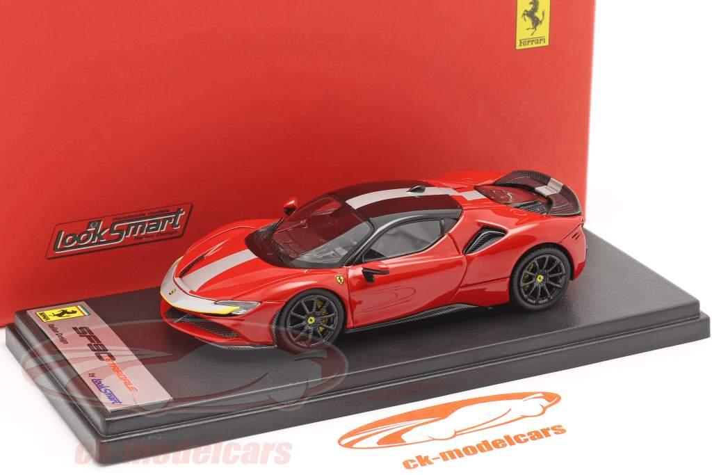 Ferrari SF90 Stradale Baujahr 2019 corsa rot / schwarz 1:43 LookSmart