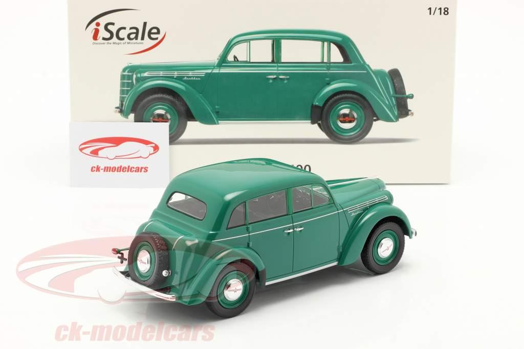 Moskvich 400 Bouwjaar 1946 groen 1:18 iScale