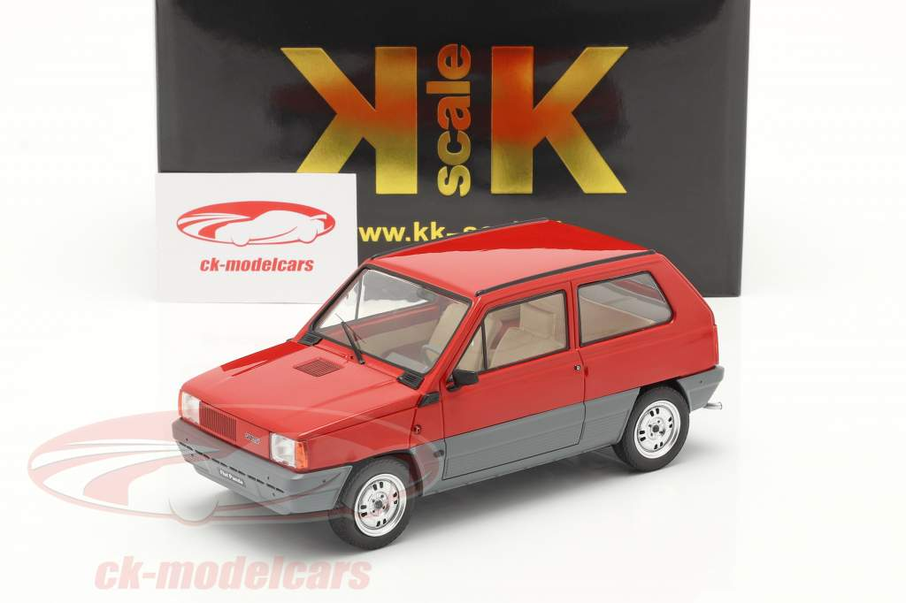 Fiat Panda 30 MK I Byggeår 1980 rød 1:18 KK-Scale