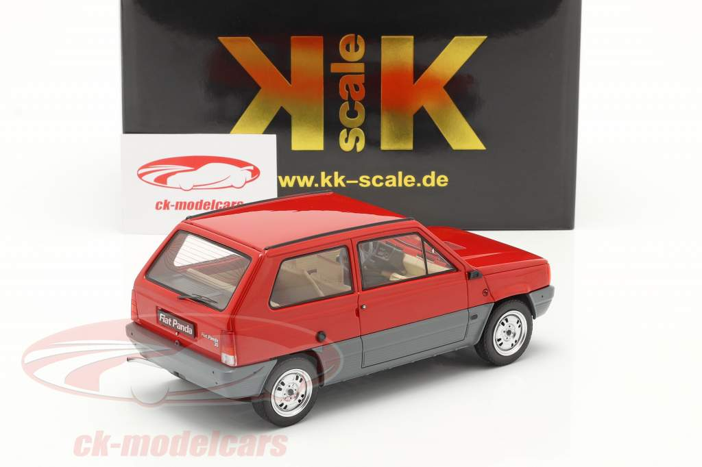 Fiat Panda 30 MK I Anno di costruzione 1980 rosso 1:18 KK-Scale