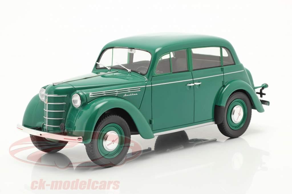 Moskvich 400 Año de construcción 1946 verde 1:18 iScale