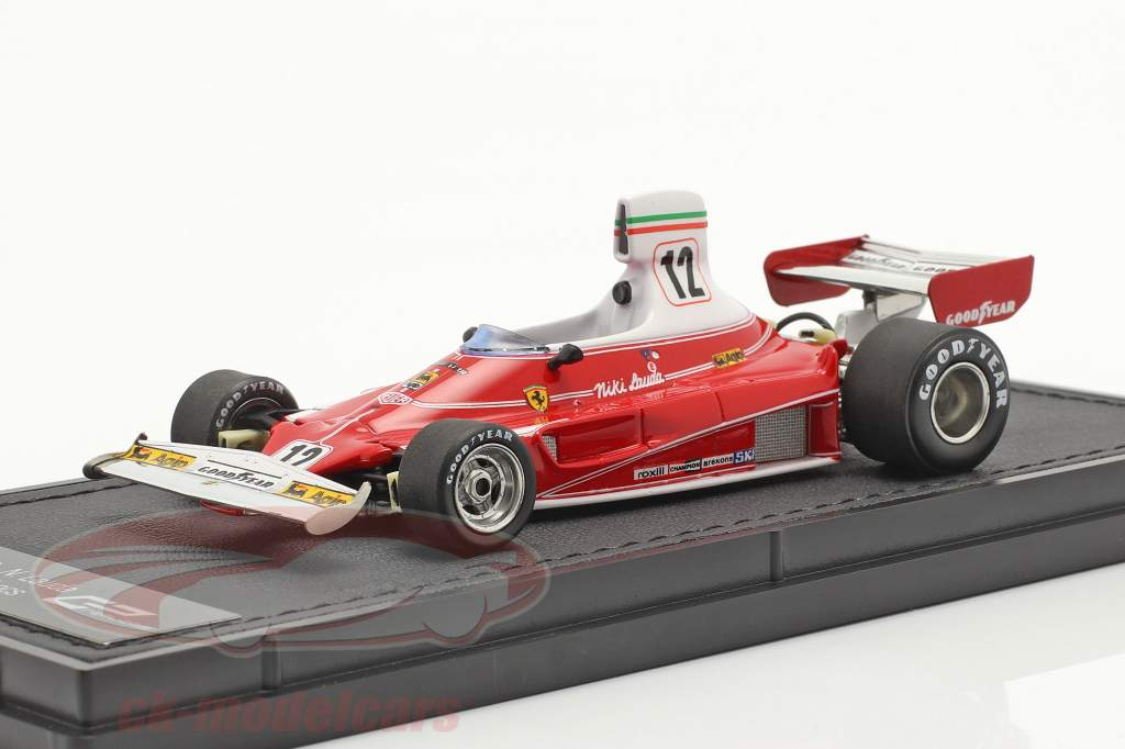 Niki Lauda Ferrari 312T #12 formel 1 Verdensmester 1975 1:43 GP Replicas