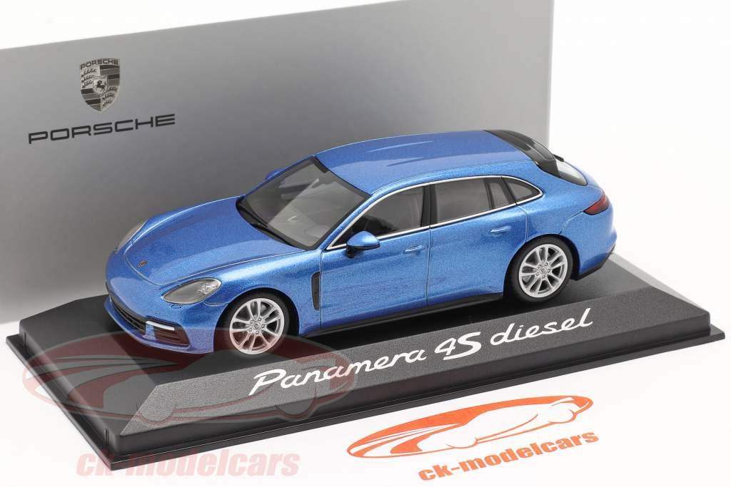 Porsche Panamera 4S Diesel bleu métallique 1:43 Minichamps