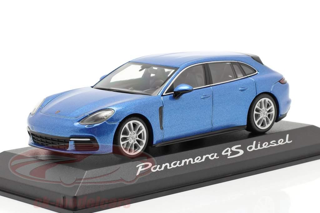 Porsche Panamera 4S Diesel azul metálico 1:43 Minichamps