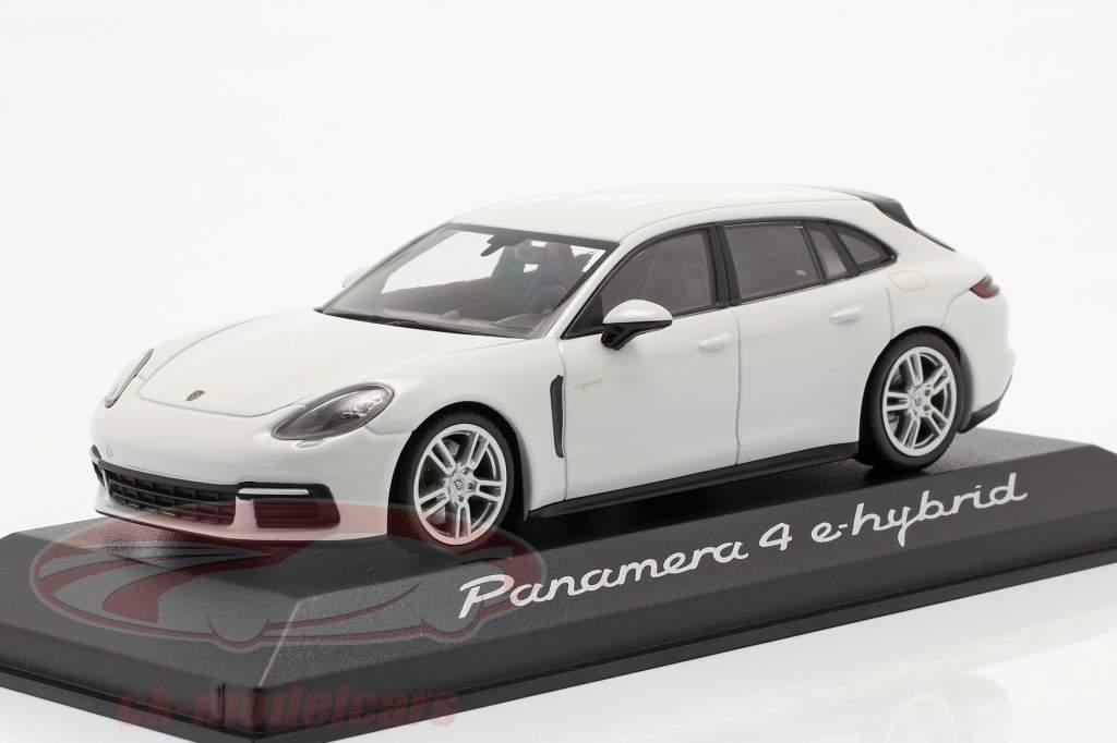Porsche Panamera 4 E-Hybrid blanc 1:43 Minichamps