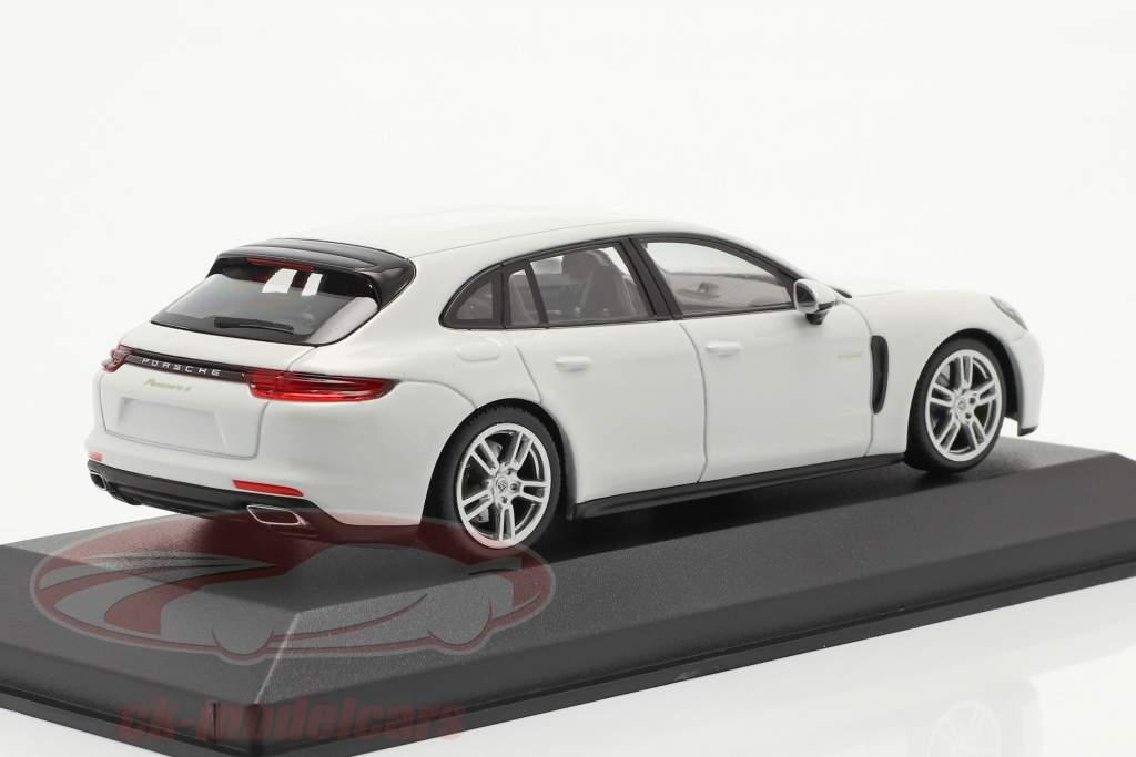 Porsche Panamera 4 E-Hybrid hvid 1:43 Minichamps