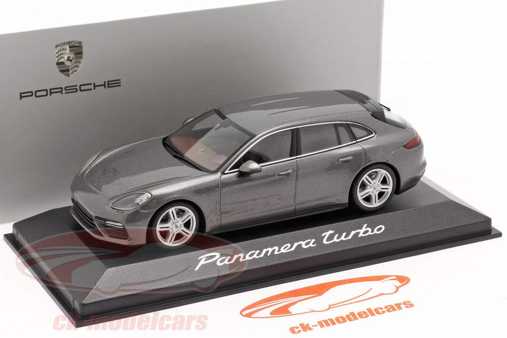 Porsche Panamera Turbo grå metallisk 1:43 Minichamps