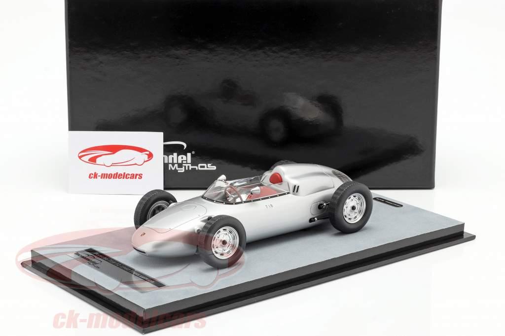 Porsche 718 F2 Presse Version 1960 silber 1:18 Tecnomodel