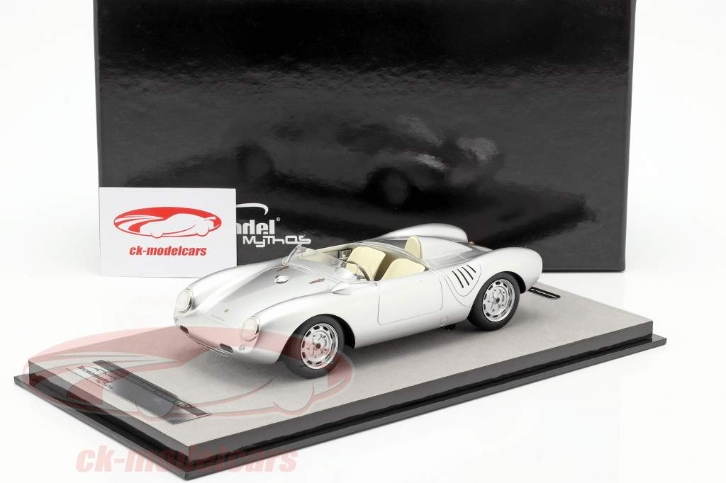 Porsche 550A RS Press version 1957 silver metallic 1:18 Tecnomodel