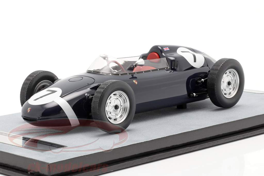 Stirling Moss Porsche 718 F2 #7 vinder B.A.R.C. Aintree 200 formel 2 1960 1:18 Tecnomodel