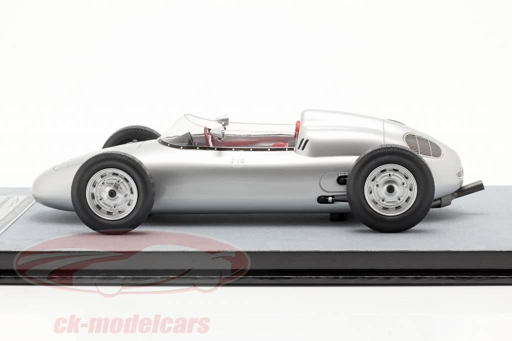 Porsche 718 F2 pressione versão 1960 prata 1:18 Tecnomodel
