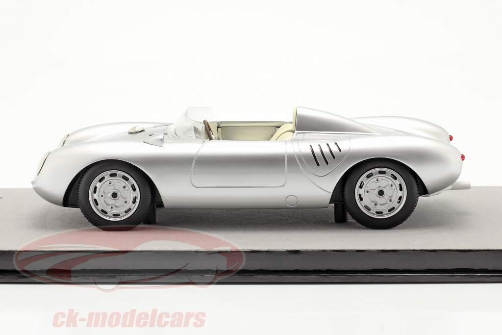 Porsche 550A RS presse version 1957 argent métallique 1:18 Tecnomodel